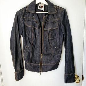 Plein Sud denim jacket zipper back 6